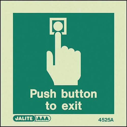 Push Button To Exit Sign
