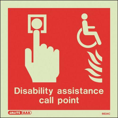 Photoluminescent Disability Assistance Fire Call Point