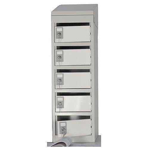 Bench-Top Post Box Locker With Doors