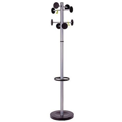 Classic Coat And Umbrella Stand Silver