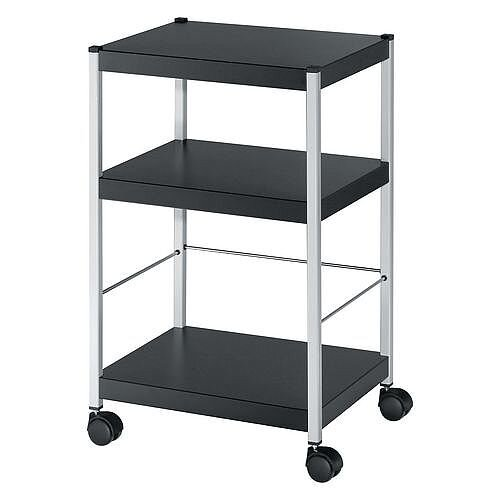 3 Shelf Office Trolley 740mm High 11 Lever Arch Files Per Shelf
