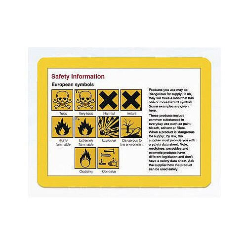 Document Frame A3 Magnetic Yellow Pack of 10