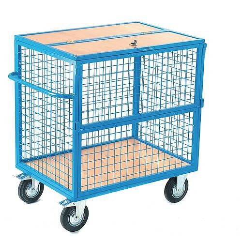 Security Trolley With Mesh Sides Capacity 350kg HxWxD  800x700x1000mm