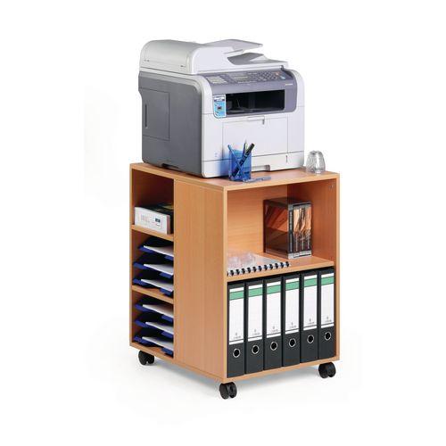 Multi Function Office Storage Trolley Beech