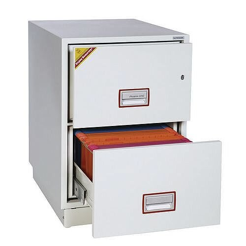 2 Drawer Fire Proof Filing Cabinet 805mm High