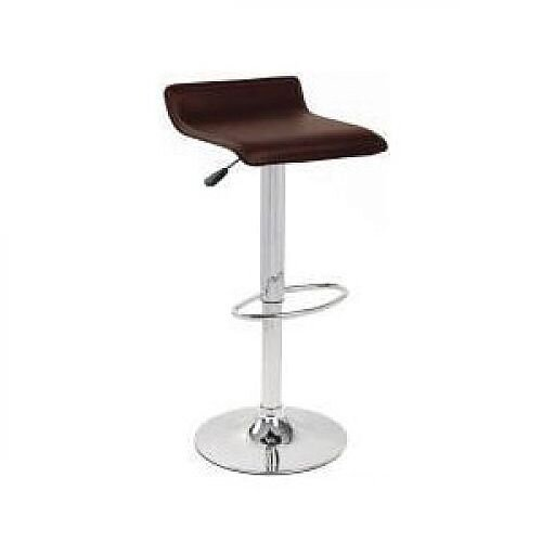 Leather Bar Stool Brown