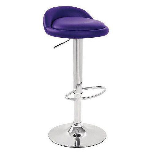 Round Leather Seat Stool Purple