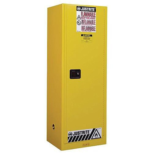 Justrite Slimline Safety Flammable Manual Close Storage Cabinet 94L HxWxD mm: 1651x590x457