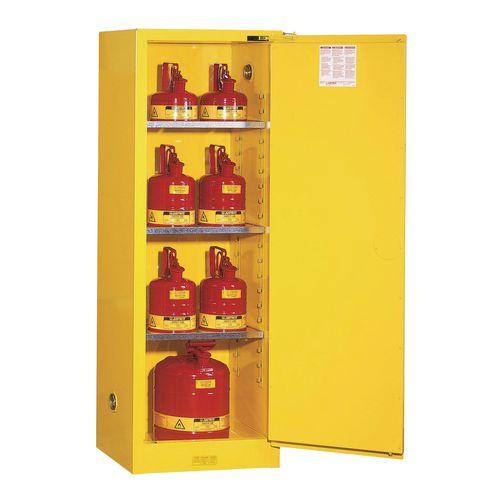 Justrite Slimline Safety Flammable Self-Close Storage Cabinet 95L HxWxDx mm: 1651x591x457