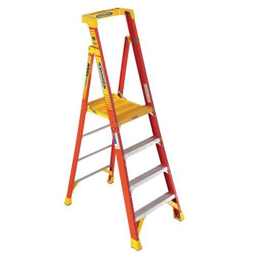 Podium Glassfibre 4 Tread Step ladder Height To Platform 1.22M Capacity 136Kg