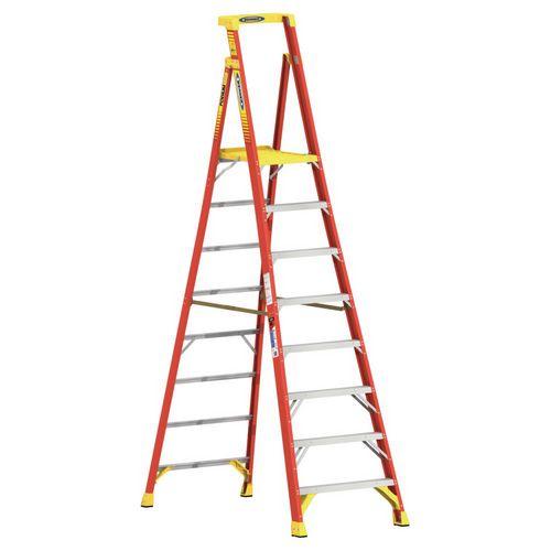 Podium Glassfibre 8 Tread Step ladder Height To Platform 2.44M Capacity 136Kg