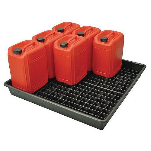 25L Drum Storage Tray For 9 Drums Capacity 100L HxWxD 120x1000x1000mm