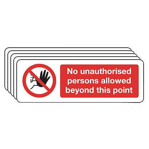 Self Adhesive Vinyl Access Prohibition Sign Multi-Pack of 5