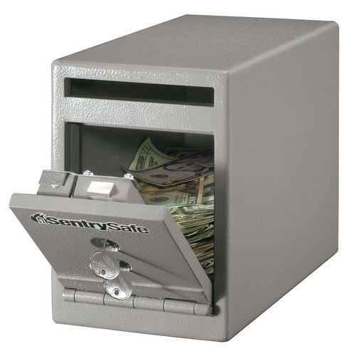 Under Counter Deposit Safe 7L Grey Two Key Lock