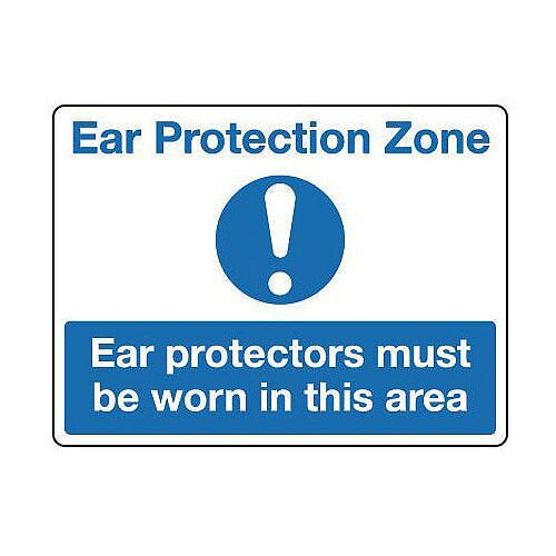 Self Adhesive Vinyl Protective Clothing And Respiratory Protection Sign Ear Protection Zone