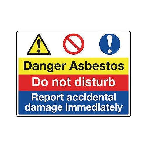 Sign Danger Asbestos 600x450 Vinyl