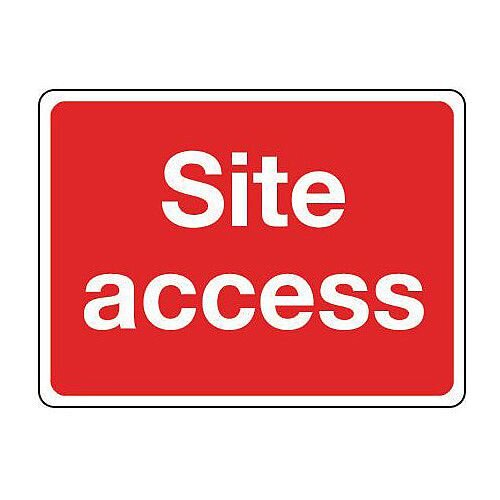 Reflective General Construction Sign Site Access