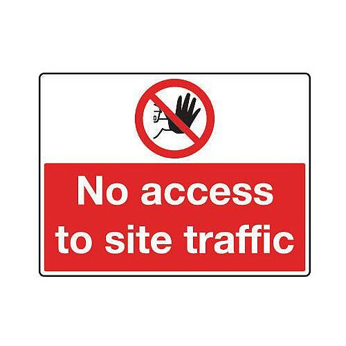 Reflective General Construction Sign No Access To Site Traffic