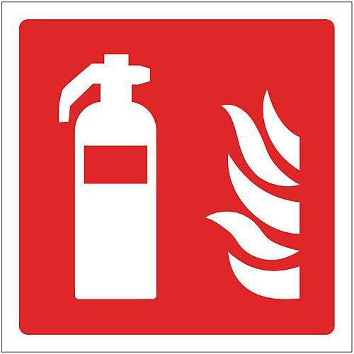 PVC Fire Fighting Equipment Sign Extinguisher Pictorial