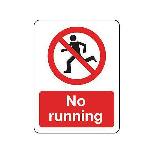 PVC General Prohibition Sign No Running Portrait
