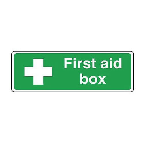 PVC Safe Condition And First Aid Sign First Aid Box