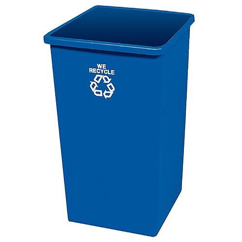Waste Paper Recycling Bin 132.5 Litre Blue Without Lid