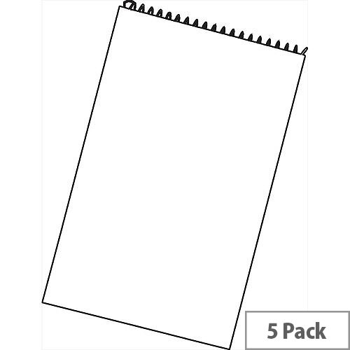 White Box Reporters Notebook Spiral 150 Leaf [Pack 5]