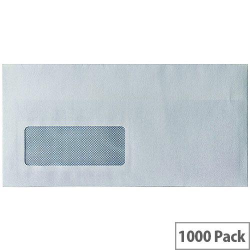 Envelopes DL Window Self Seal White 80gsm Pack 1000