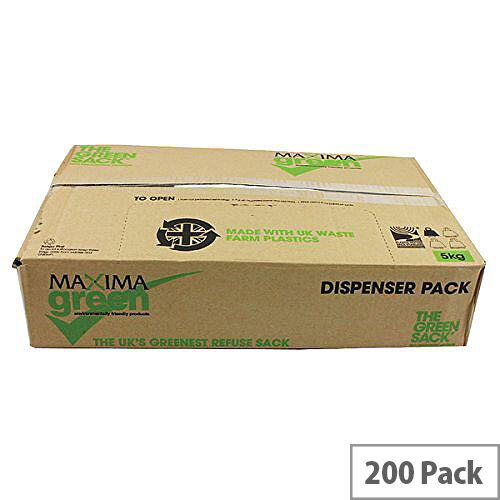 Whitebox Black Light Duty 90l Refuse Sacks 18x29x39inches 22 Micron Pack of 200 WX80001