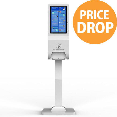 """21.5"""" LCD Automatic Hand Sanitiser Station 3L Floor Standing or Wall Mount"""