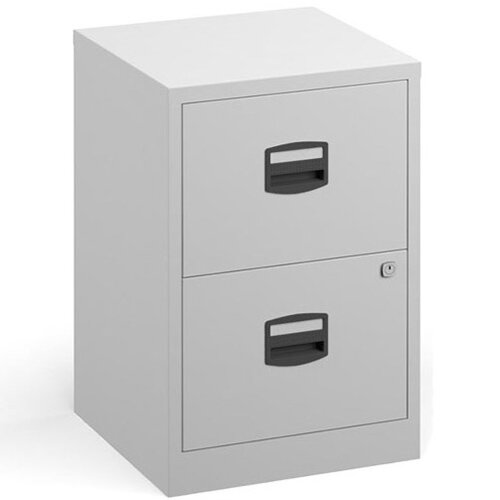Bisley A4 Home Filer Steel Filing Cabinet With 2 Drawers - White