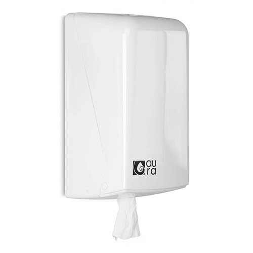 Aura White Centrefeed Hand Towel Dispenser Snow Line for Maxi Towel Roll