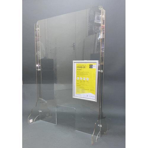 Protective Screen with Legs 1000mm x 800mm