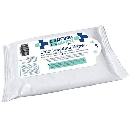 PrimeGuard Chlorhexidine Anti-bacterial Hand Wipes 25 Wipes Per Pack