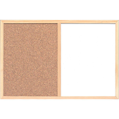 Combination Notice Board Cork and Drywipe W900 x H600mm 5 Star ...