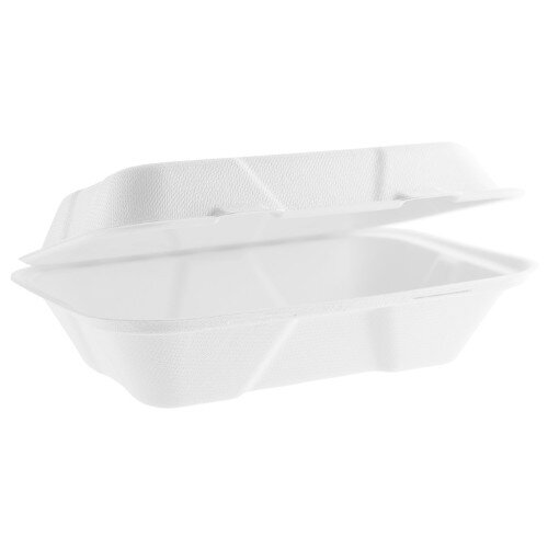 50  Count Stock Your Home 9 x 6 x 1 Bagasee Clamshell Take Out Boxes