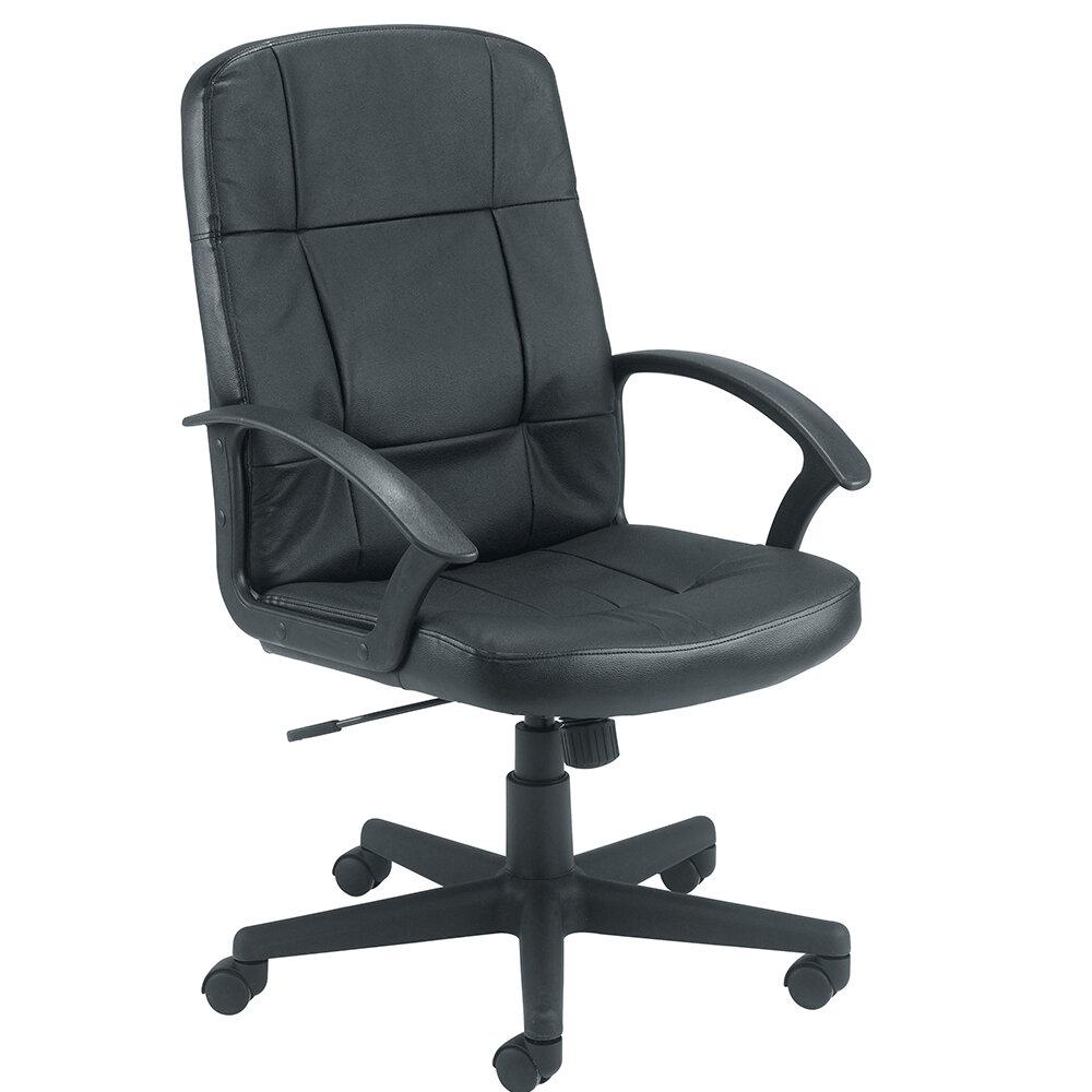 Jemini Medium Back Leather Look Executive Office Armchair