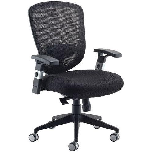 Arista Mesh High Back Task Operator Office Chair Black Kf72246 Hunt Office Ireland