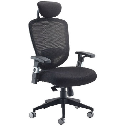 Arista Mesh High Back Task Operator Office Chair with Headrest ...  sc 1 st  Hunt Office & Arista Mesh High Back Task Operator Office Chair with Headrest Black ...