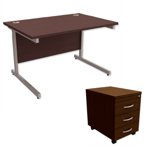 Image of: Office Desk Walnut In Jual Vienna Pc609 Walnut Office Desk With Drawers Shown Other Items In The Range