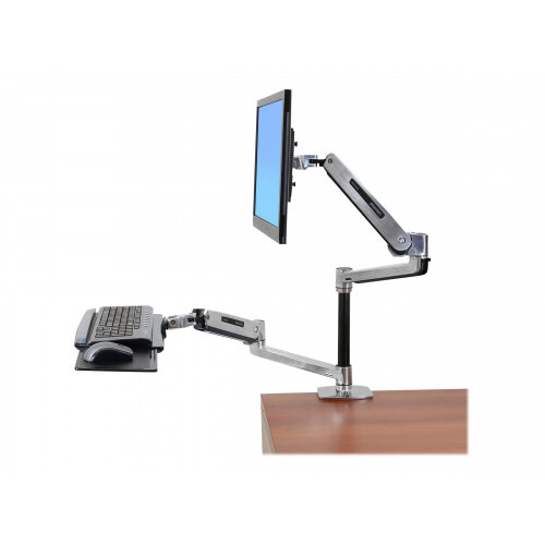 Ergotron Workfit Lx Sit Stand Desk Mount System Mounting Kit Articulating Arm