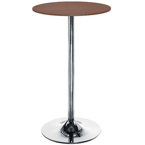 Astral Tall Round Cafe Table Walnut, Tall Round Table