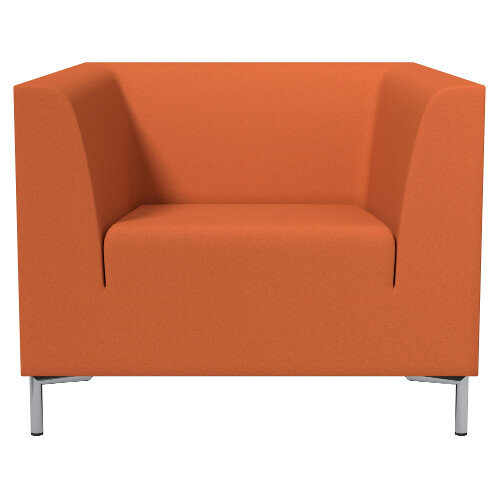 Sigma Single Seater Armchair Orange Fabric