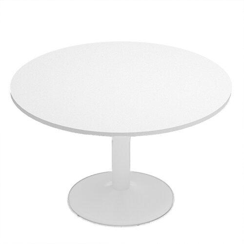 Kito White Meeting Room Round Table White Trumpet Base - Round table base kit
