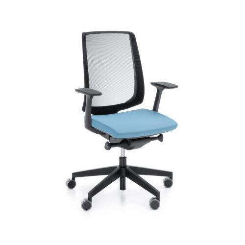 Play Video Lightup Modern Design Ergonomic Mesh Office Chair Sky Blue