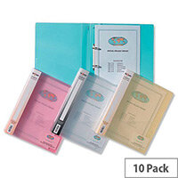 Snopake Superline Ring Binder A4 Clear 25mm Size 2 O-Ring 10183 Pack 10