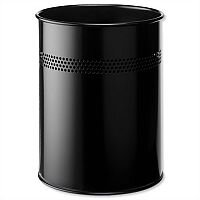Durable Black Round Metal Bin 15 Litres 3300/01