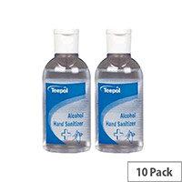 Teepol - Fully Approved Ethanol Based Hand Sanitizer 50ml Pocket Size PCS 97238 Pack of 10