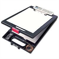 Stewart Superior Clipcase A4 Clipboard Black - with Calculator