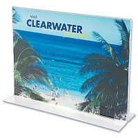 Table Sign Holder A4 Landscape Clear Deflecto